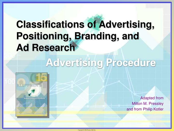 classifications of advertising positioning branding and ad research n.