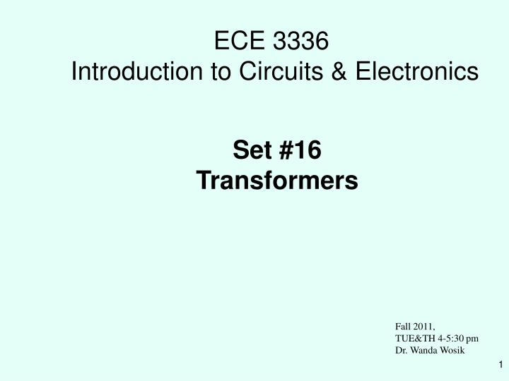 ece 3336 introduction to circuits electronics n.
