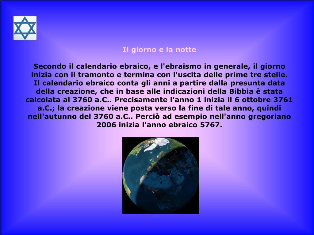 Come Si Chiama Il Calendario Ebraico.Ppt Il Popolo Ebraico Powerpoint Presentation Id 6365662