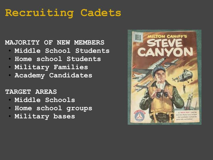 Recruiting cadets
