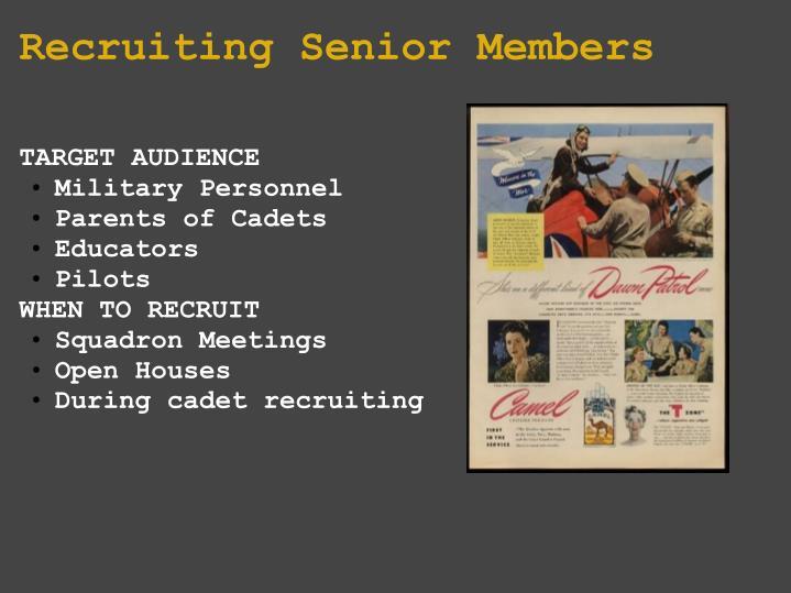 Recruiting Senior Members
