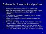 8 elements of international protocol