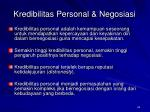 kredibilitas personal negosiasi