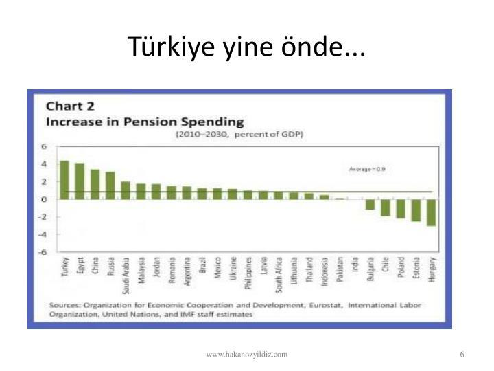 Türkiye yine önde...