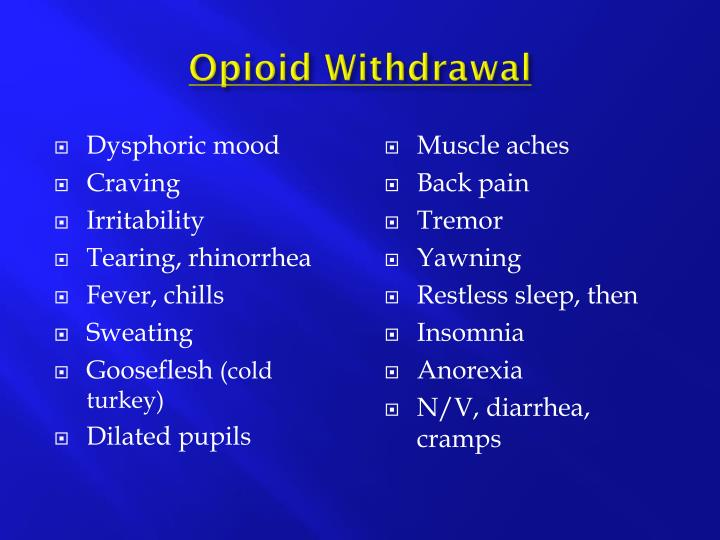 Dysphoric mood