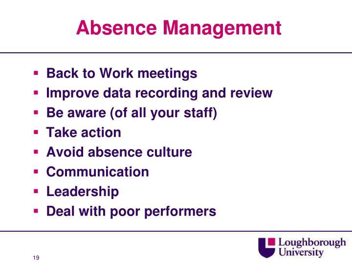 Absence Management