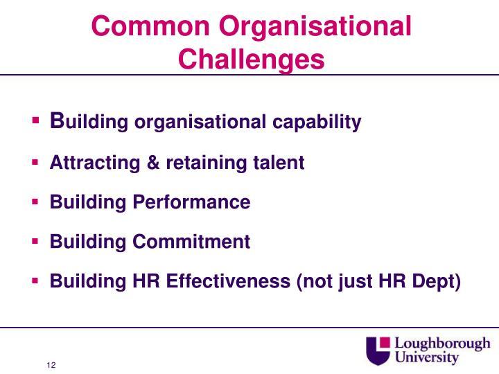 Common Organisational Challenges