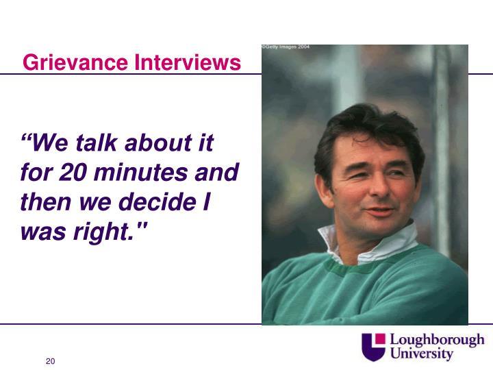 Grievance Interviews