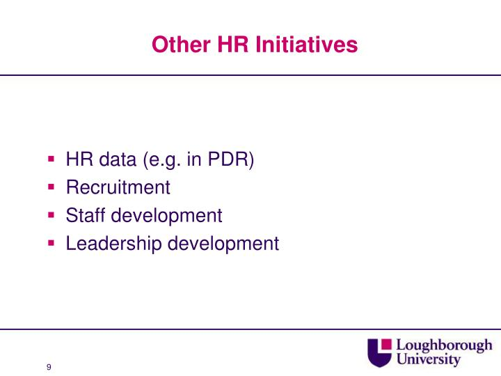 Other HR Initiatives