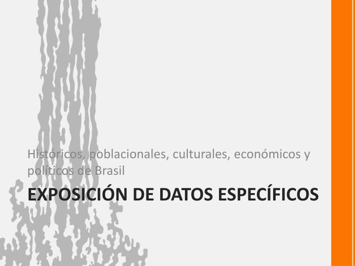 Exposici n de datos espec ficos