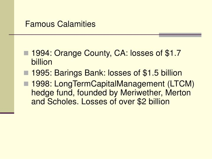 Famous Calamities