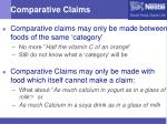 comparative claims