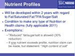 nutrient profiles