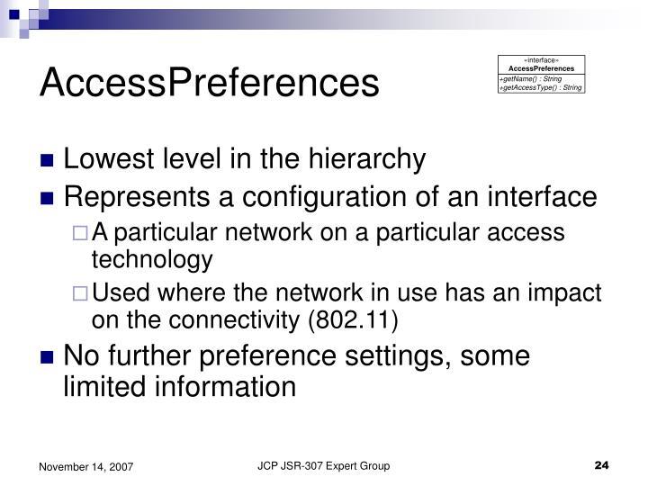AccessPreferences