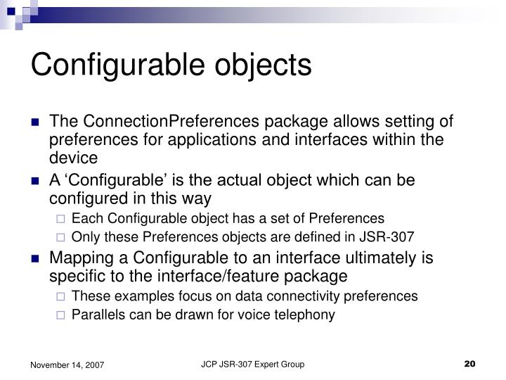 Configurable objects