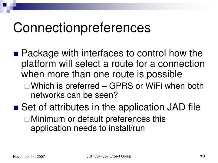 Connectionpreferences