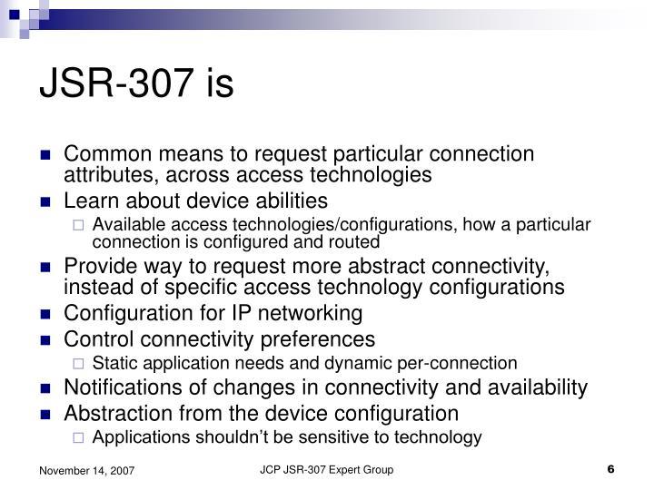 JSR-307 is