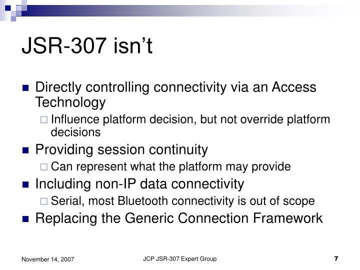 JSR-307 isn't