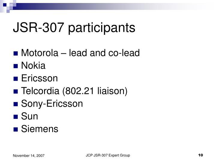 JSR-307 participants