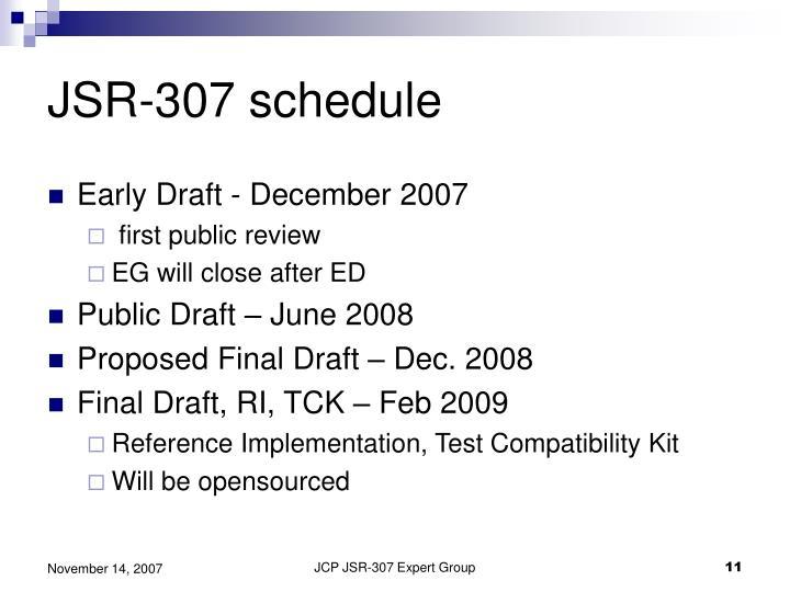 JSR-307 schedule