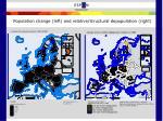 population change left and relative structural depopulation right