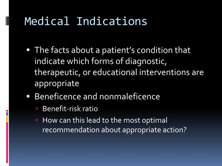 Medical Indications