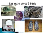 les transports paris