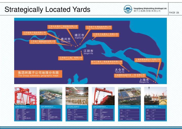 Strategically Located Yards