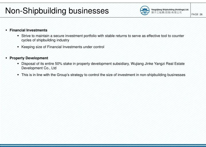 Non-Shipbuilding businesses