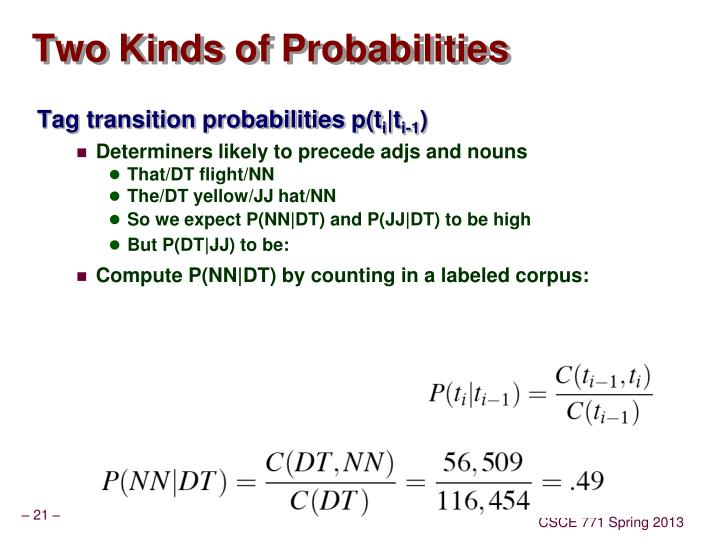 Two Kinds of Probabilities