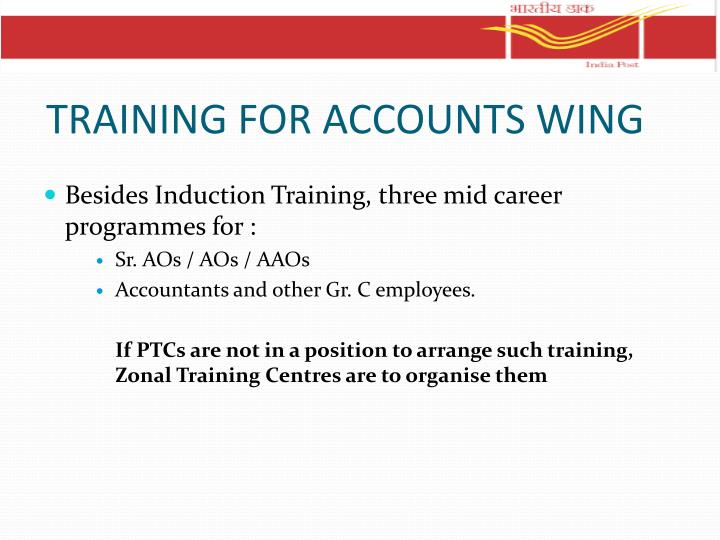 TRAINING FOR ACCOUNTS WING