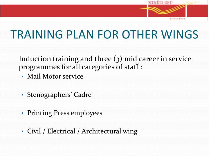 TRAINING PLAN FOR OTHER WINGS