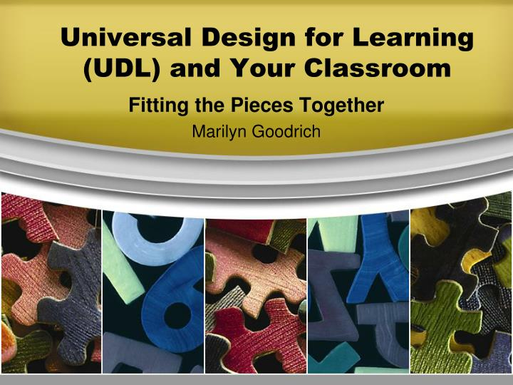 universal design for learning udl and your classroom n.
