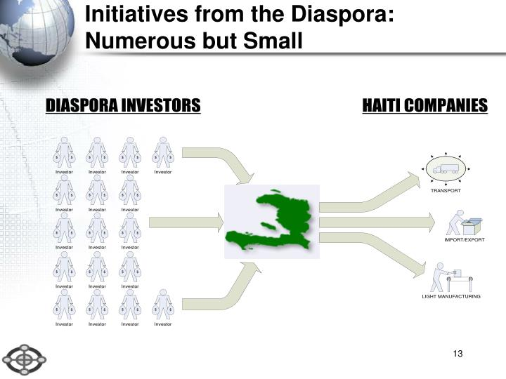 Initiatives from the Diaspora: Numerous but Small