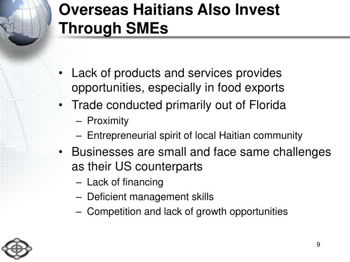 Overseas Haitians Also Invest Through SMEs