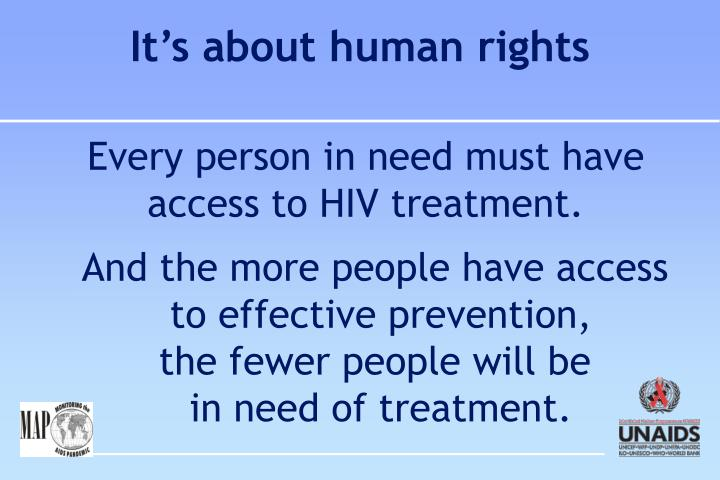It's about human rights