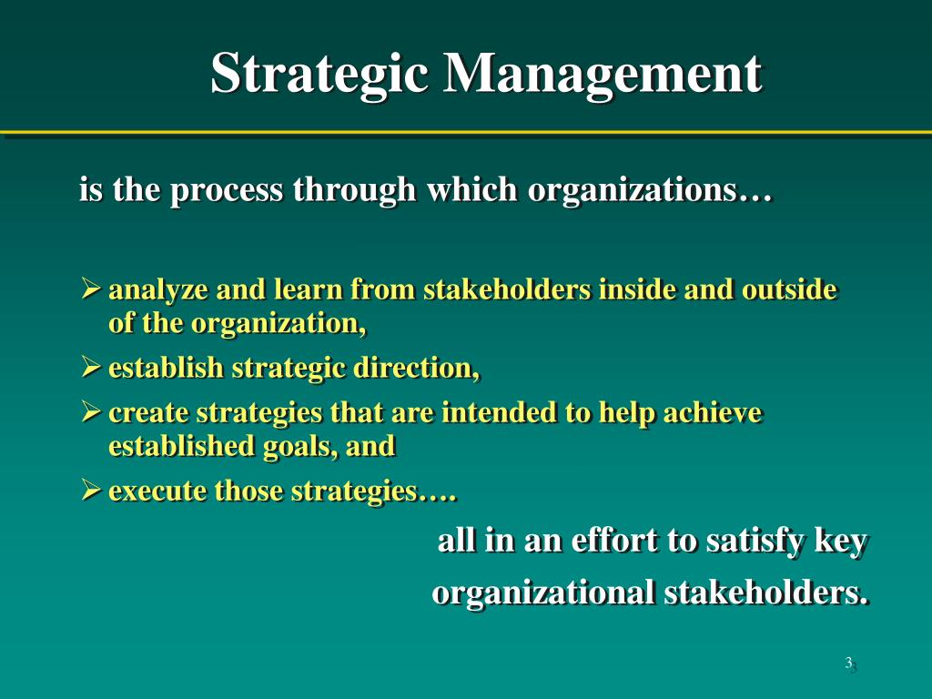 PPT - Chapter 1 The Strategic Management Process PowerPoint