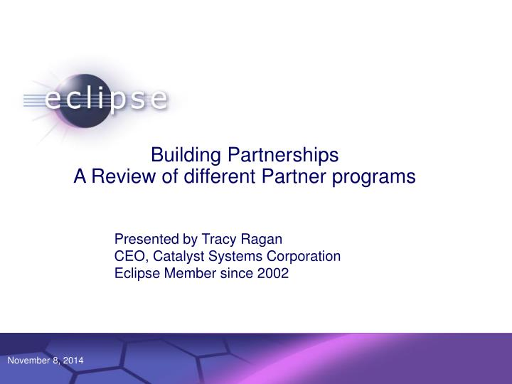 building partnerships a review of different partner programs n.