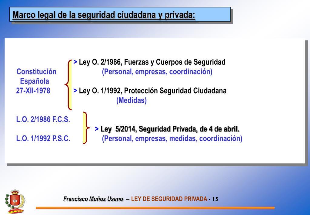 Ppt Ley 5 2014 De Seguridad Privada Powerpoint
