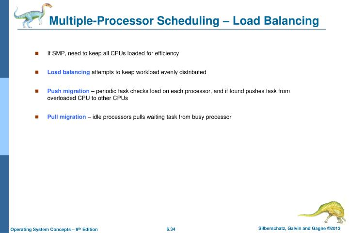 Multiple-Processor Scheduling – Load Balancing