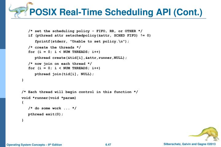 POSIX Real-Time Scheduling API (Cont.)