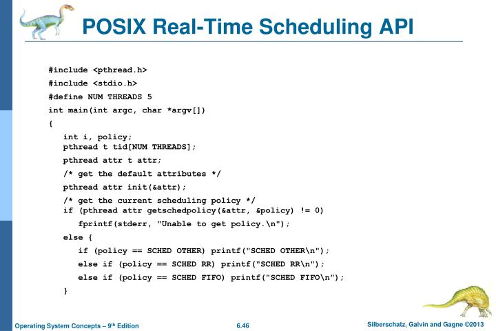 POSIX Real-Time Scheduling API