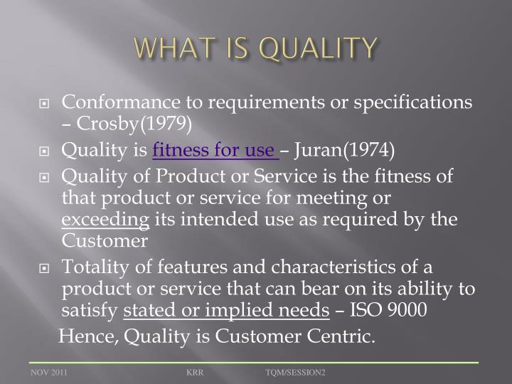 what is quality n.