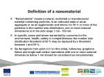 definition of a nanomaterial