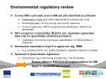 environmental regulatory review