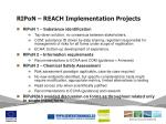 ripon reach implementation projects