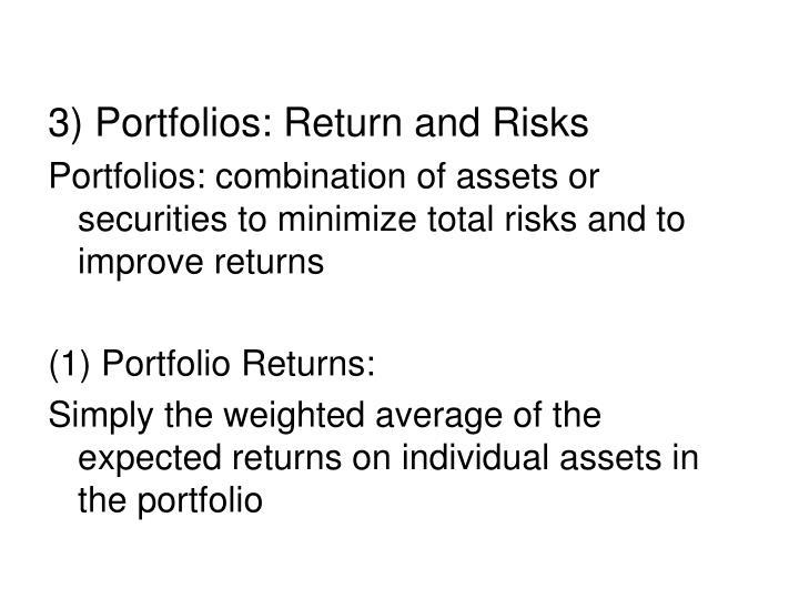 3) Portfolios: Return and Risks