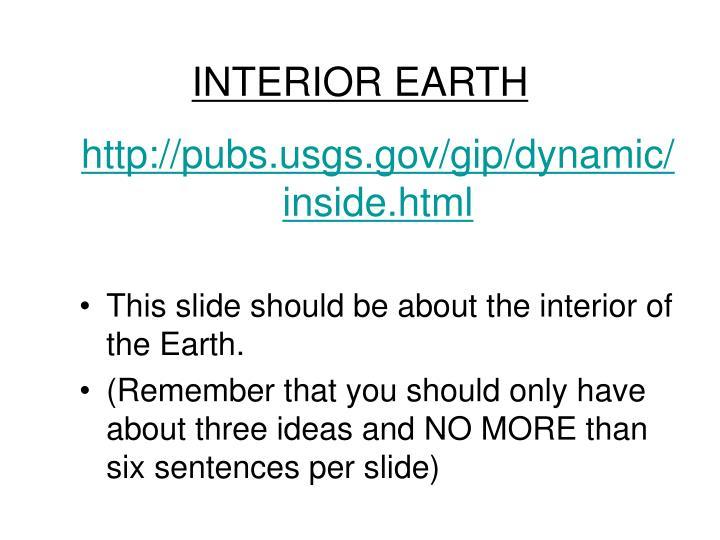 INTERIOR EARTH