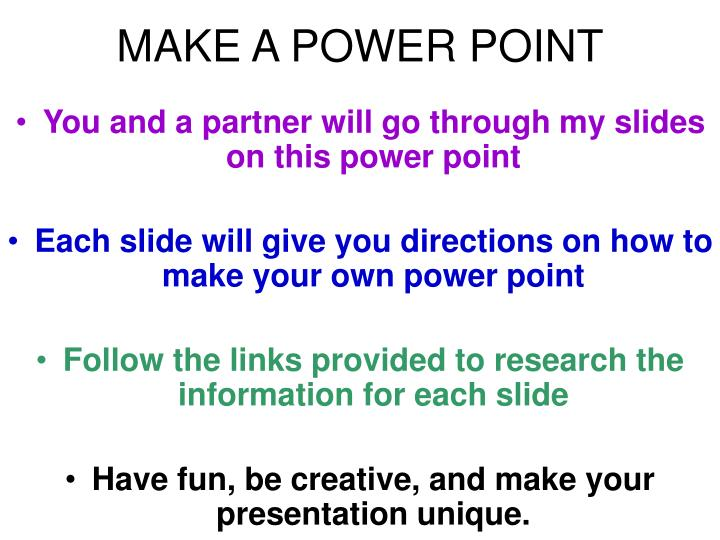 make a power point n.