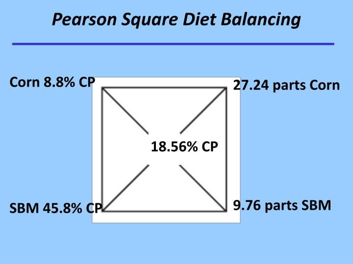 Pearson Square Diet Balancing